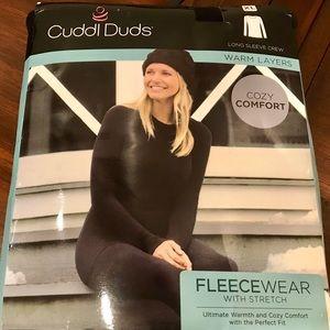 Cuddl Duds Tops - Cuddl Duds Fleecewear Long Sleeve Crewneck